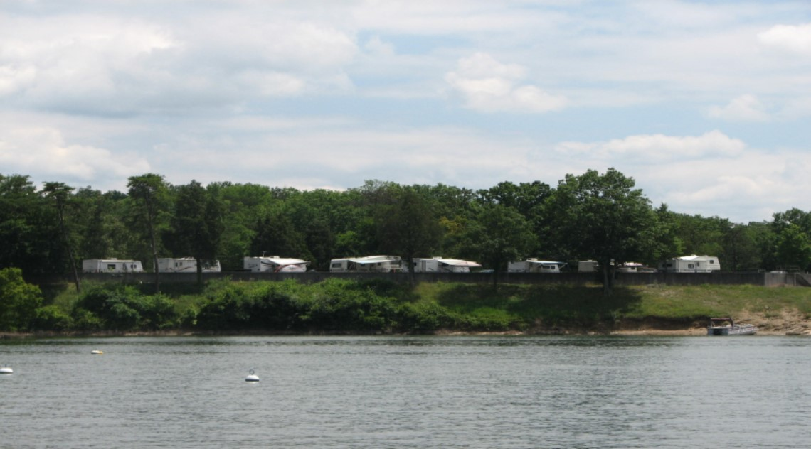 RV Park View from Lake