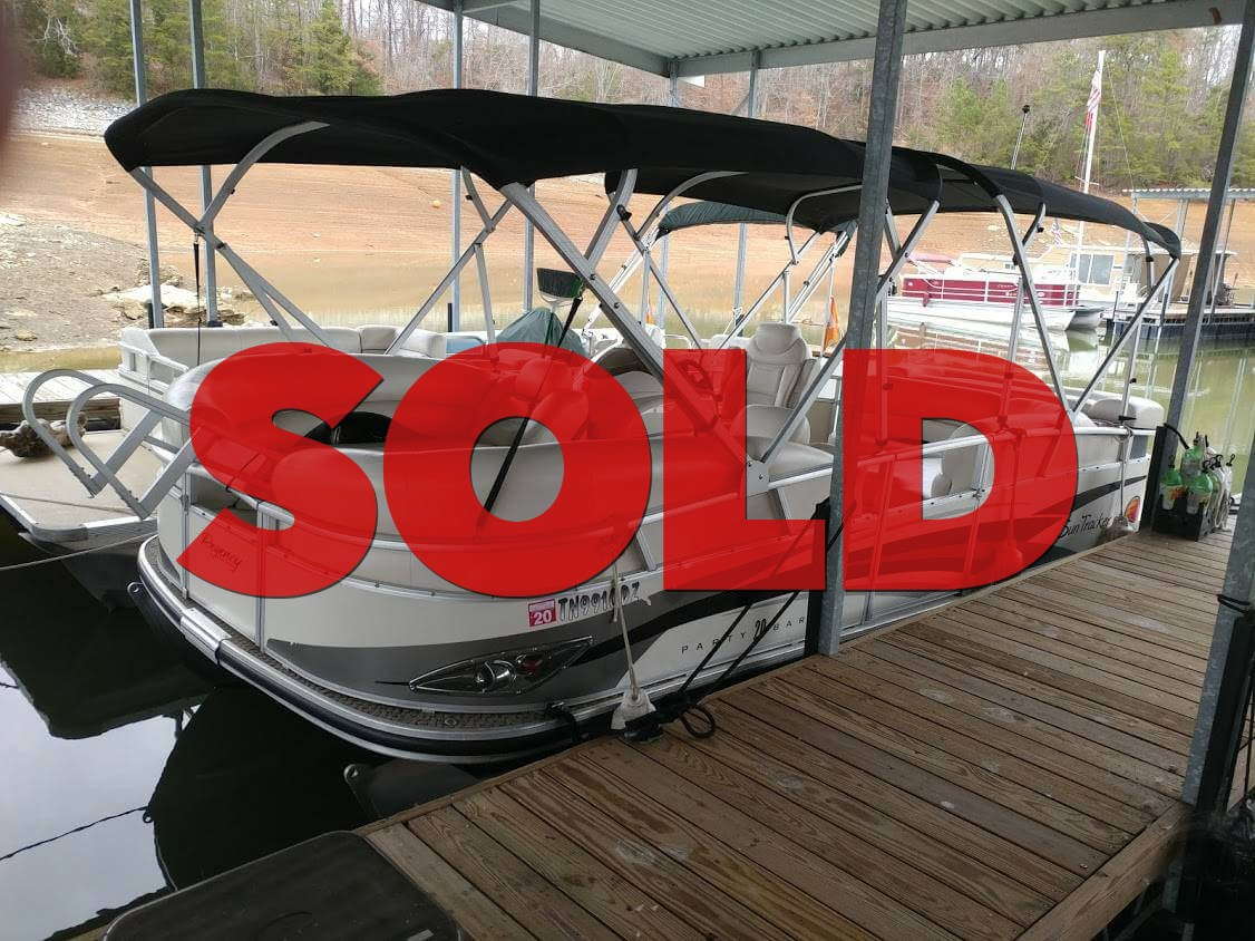 SOLD: 2009 Sun Tracker Party Barge w/ 60 HP Mercury Outboard & Trailer –  $15000 (Sevierville)