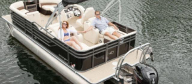 2018 Crest I 220 L Pontoon Boat White/Tan