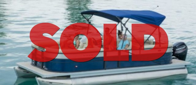 2019 Crest I 220 SLRC Pontoon Boat Lagoon Blue/Black