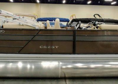 2019 Crest I 220 SLC Pontoon Boat Caribou/Steel