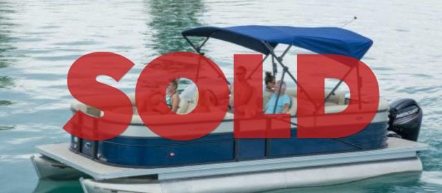 2019 Crest I 220 SLRD Pontoon Boat Navy/Steel