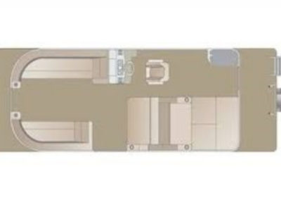 2019 Crest I 220 SLRD Pontoon Boat Floorplan