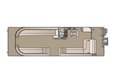 2019 Crest II 220 SLS Cabernet Steel Floorplan