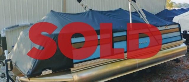 2019 Crest I 220 SLRC Pontoon Boat Lagoon Blue/Steel