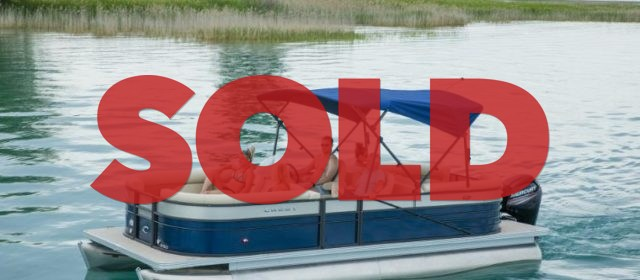 2019 Crest II 220 SLS Tritoon Boat Lagoon Blue/Black