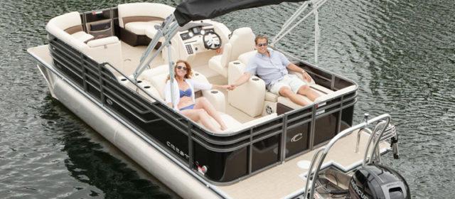 2019 Crest III 220 SLS Tritoon Boat Black/Steel