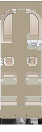 2020 Crest LX 220 SLRC Tritoon Boat floorplan