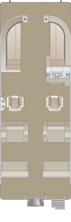 2020 Crest LX 220 SLRC Pontoon Boat floorplan