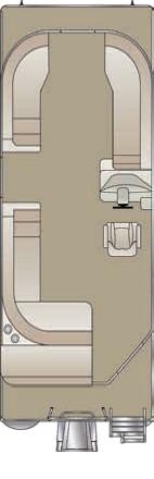 2020 Crest LX 220 L Pontoon Boat floorplan
