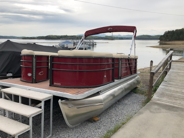 Deep discount on 2019 Crest Pontoon Demos at Mountain Cove Marina