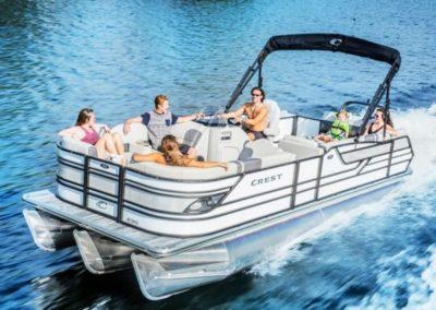2020 Crest Caribbean Platinum 230 SLS Tritoon Boat