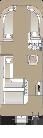 2021 Crest LX 220 SLS Tritoon Boat Cabernet/Steel