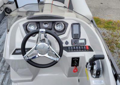 2021 Crest DLX 220 SLS Tritoon Boat White - Firecracker