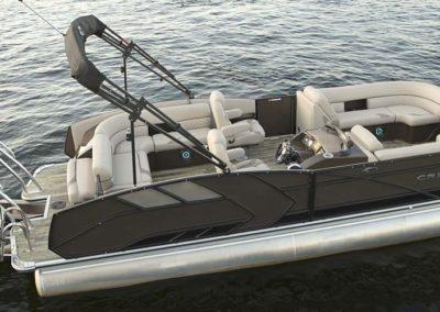 2021 Crest CARIBBEAN LX 230 SLRC Tritoon Boat Blue/White