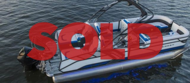 2021 Crest Caribbean RS 250 SLRC Tritoon Boat Black/Pacific Blue