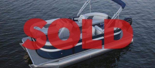 SOLD: 2021 Crest LX 220 SLRC Pontoon Boat Steel/Black